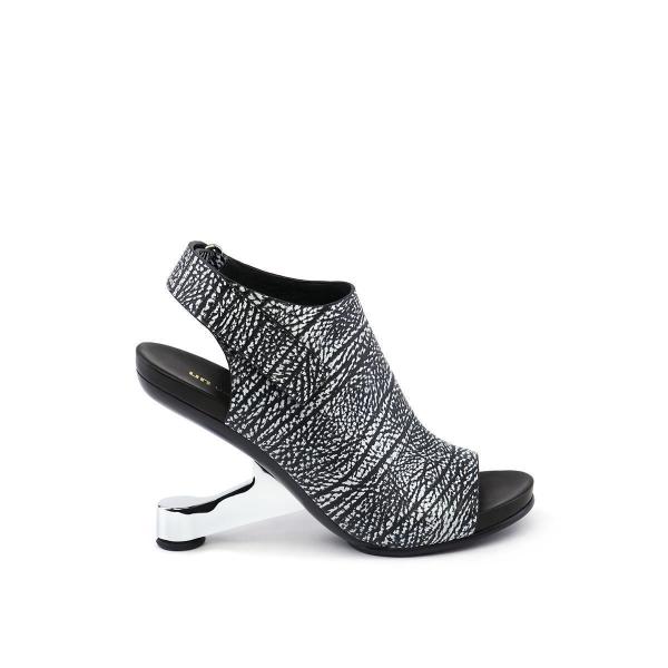 Eamz Bootie Sandal Black + White Mix