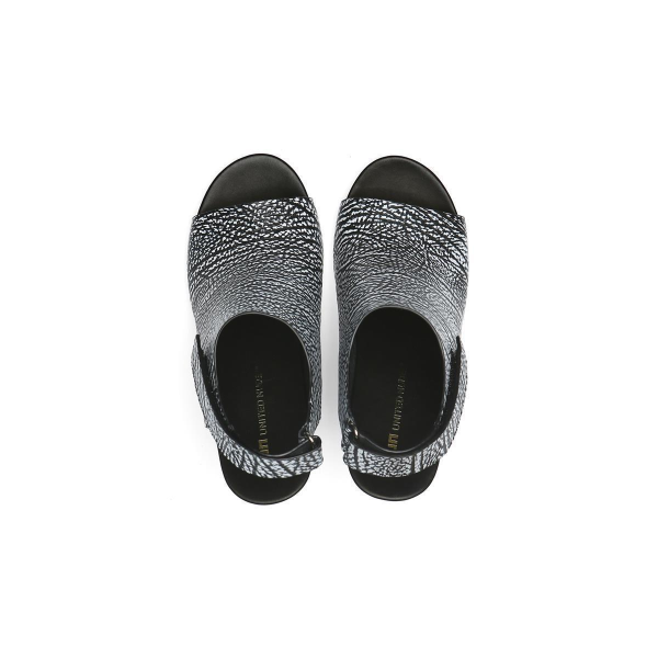 Eamz Bootie Sandal Black + White Mix
