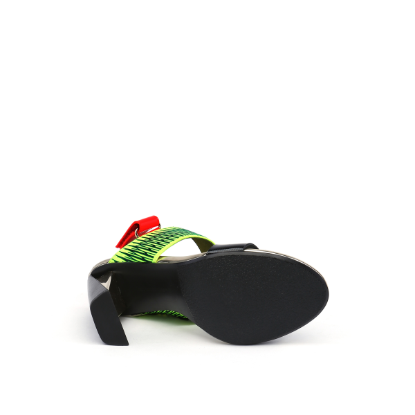 Zink Slingback Hi Disco + Neon Lime + Neon Red