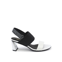 Zink Slingback Mid White + Black + White Mix