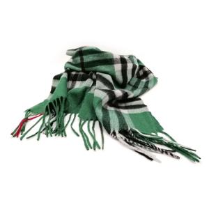 Kschmirschal Grün Kariert