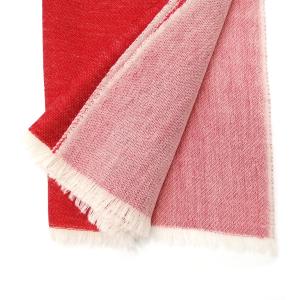 Schal rot/beige