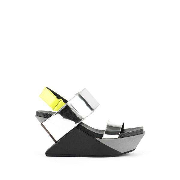 Delta Wedge Sandal Silver